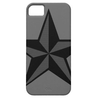 Black & Gray Nautical Star iPhone 5 Case