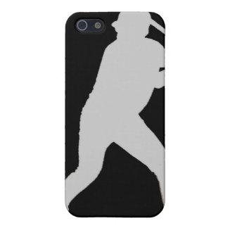 Black gray simple baseball player iphone case