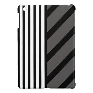 Black Gray Stripe iPad Mini Case