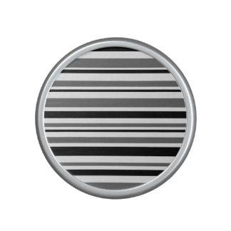 Black, Gray, White Stripes Speaker