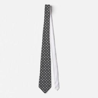 Black/Gray/White Wavy Pattern Tie