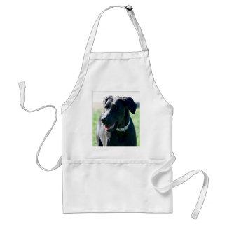 Black Great Dane apron