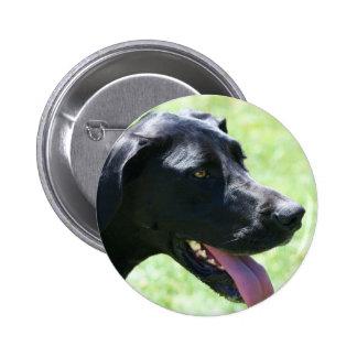 Black Great Dane Button