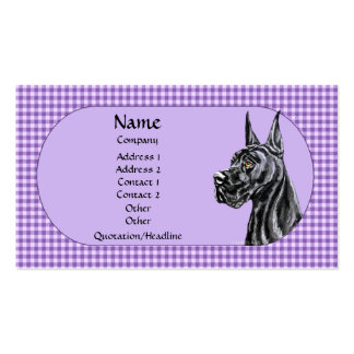 Black Great Dane Check Business Card