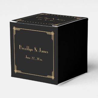 Black Great Gatsby Art Deco Wedding Favor Boxes Party Favour Boxes