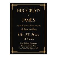 Great Gatsby Wedding Invitations Announcements Zazzlecouk