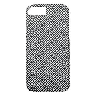 Black Greek Key Pattern iPhone 7 Case