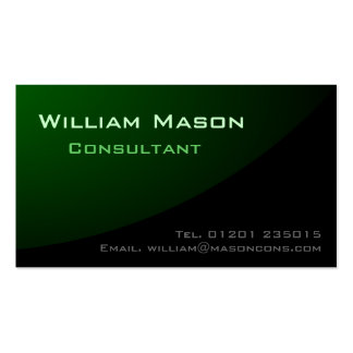 Black Green Curved, Professional Business Card