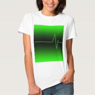 Black Green EKG Shirt