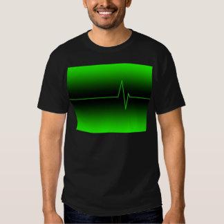 Black Green EKG Tshirts