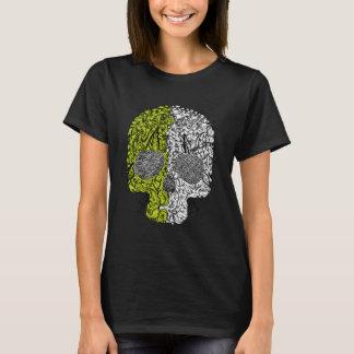 Black & Green Funny Skull T-shirt for Girls