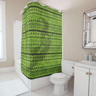 Black/Green Halloween Witch Fun Font Art Pattern Shower Curtain