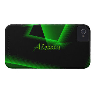 Black Green iPhone 4 case for Alessia