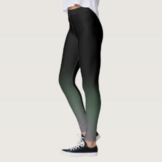 Black Green Mulberry Gradient Fade Leggings
