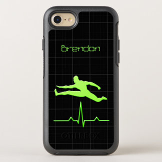 Black Green Personal Trainer Fitness Man Jumping OtterBox Symmetry iPhone 7 Case