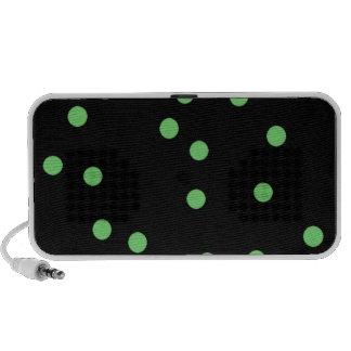 Black & Green PolkaDots Mp3 Speakers