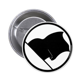 Black Green Purple Flag Plain No Symbol Blank 6 Cm Round Badge
