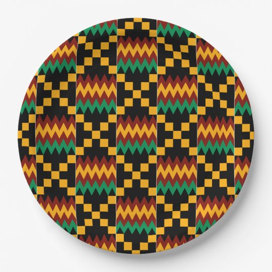 Black, Green, Red, and Yellow Kente Cloth Paper