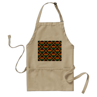 Black, Green, Red, and Yellow Kente Cloth Standard Apron