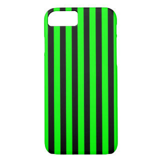 Black Green Stripes iPhone 7 barely there case