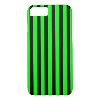 Black Green Stripes vertical iPhone 7 case