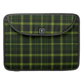 Black Green Tartan Plaid Large Pattern Sleeve For MacBooks