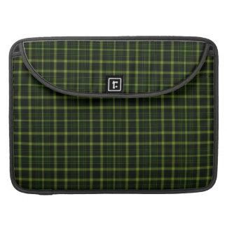 Black Green Tartan Plaid Small Pattern MacBook Pro Sleeves
