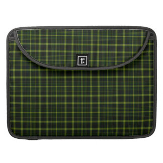 Black Green Tartan Plaid Small Pattern Sleeve For MacBooks