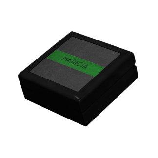 Black & Green Vintage Leather Image Gift Box