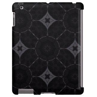 Black Grey Abstract iPad Case