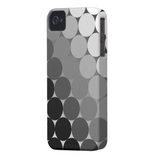 Black, Grey and White Geometric Cirlces Pattern iPhone 4 Case-Mate Case