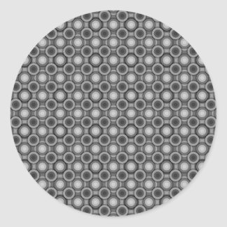 Black, grey and White Optical Illusion Circles Classic Round Sticker