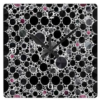 Black Grey Bling Wall Clock