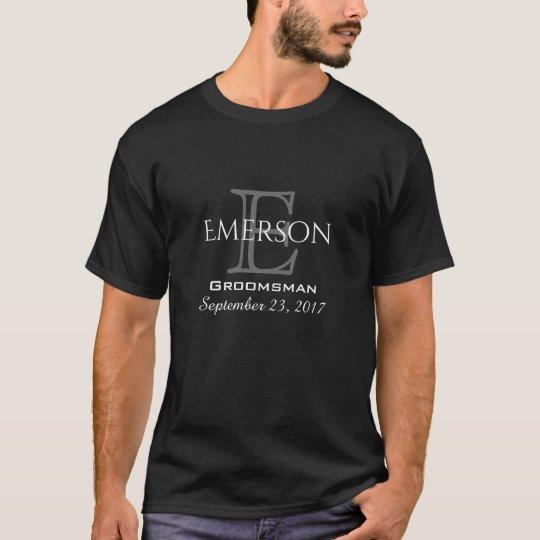 Black & Grey Bridal Party Favour Keepsake T-Shirt