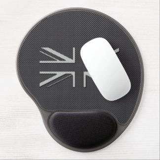 Black & Grey Carbon Fiber UK Flag Union Jack Gel Mouse Pad