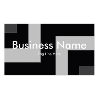 Black/Grey Color Corner (MB) Business Cards