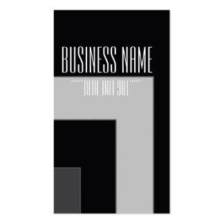 Black/Grey Color Corner (MB) Business Card Template