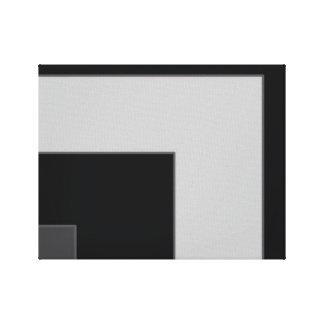 Black/Grey Color Corner (MB) Canvas Print