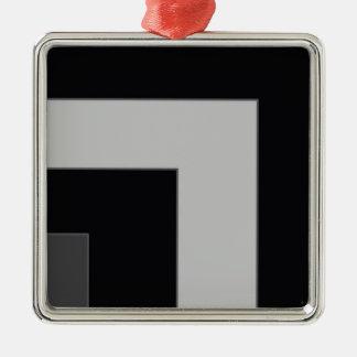 Black/Grey Color Corner (MB) Silver-Colored Square Decoration