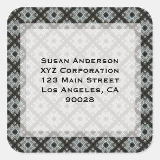 Black Grey CrissCross Square Sticker