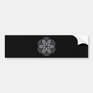 BLACK GREY GRAY FLOWER FLORAL GRAPHIC DESIGN LOGO BUMPER STICKER