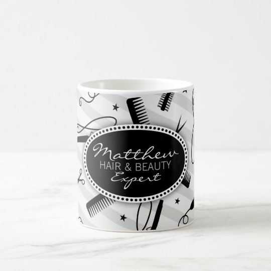 Black & Grey Hair & Beauty Coffee Mug