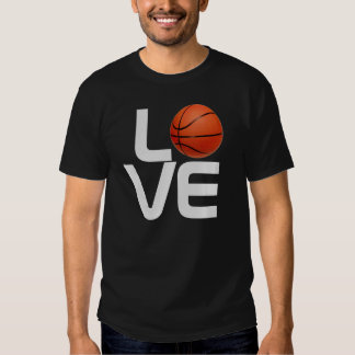 Black Grey Love Basketball Game Sport TShirt