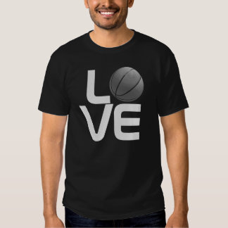 Black Grey Love Basketball Sport Futuristic TShirt
