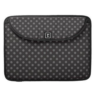 BLACK GREY POLKA DOTS PATTERN MacBook PRO SLEEVES