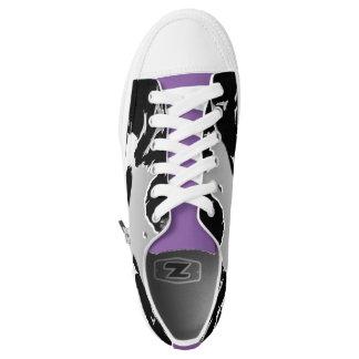 Black,Grey,Purple Shatter Design Sneaker