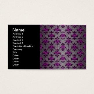 Black Grey Purple Victorian Damask Pattern