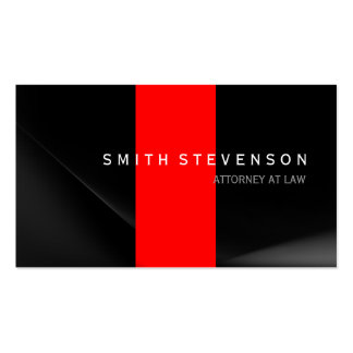 Black Grey Red Attorney at Law Business Card