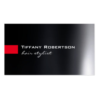 Black Grey Red Color Hair Stylist Salon Pack Of Standard Business Cards
