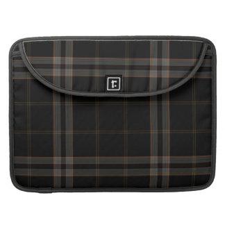 Black Grey Red Tartan Plaid MacBook Pro Sleeves